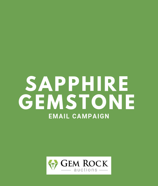 Sapphire Gemstone Email Campaign | Treasures Auctions
